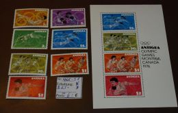 Antigua  Olympia  Block 25  425-31    ** Postfrisch MNH  #3688 - Antigua Und Barbuda (1981-...)