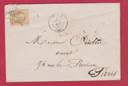 LETTRE   //   Départ Paris //   3 Dec 1863  //  Cachet étoile - Postmark Collection (Covers)