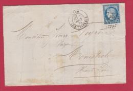 LETTRE  //  Départ Lyon //  7 Aout 1876 - 1849-1876: Classic Period
