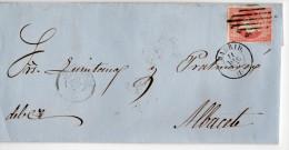 Carta Circulada Madrid A Albacete     Edifil 48  -  Fechador  11/12/1857  Isabel II - 1850-68 Kingdom: Isabella II
