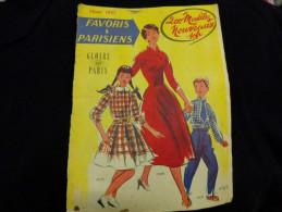 Favoris Et Parisiens -gloire De Paris- 200 Modeles Nouveaux Hiver 1957-mode - Vintage Clothes & Linen