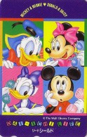 Télécarte Japon / 110-147806 - DISNEY - Mickey Minnie Donald - Japan Phonecard Telefonkarte Assu - Disney