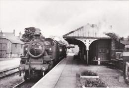 Railway Photo Card LMS Ivatt Tank 41234 AMLWCH 1962 2-6-2T Loco Gaerwen Train - Picture Cards