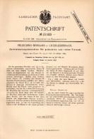 Original Patentschrift - P. Bernardi In Unterliederbach B. Frankfurt , 1884 , Zerkleinerungsmaschine Für Rohes Fleisch ! - Maschinen