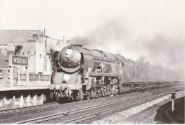 Railway Photo Card SR MN 35007 Aberdeen Commonwealth WOKING 1962 Pacific Loco - Picture Cards