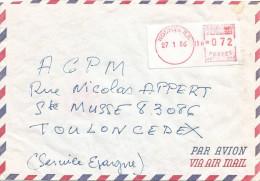 "Nouvelle Caledonie 1986 Noumea RP Camp Post Office EMA With ""NR"" Prefix NR 004 With Hour Cover - Briefe U. Dokumente"