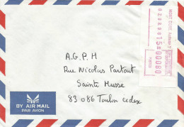 Nouvelle Caledonie 1990 Mont Dore Annexe 1 FRAMA Post Office EMA Cover - Neukaledonien