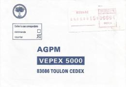 Nouvelle Caledonie 1990 Koumac FRAMA Post Office EMA Cover - Neukaledonien