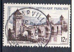 """SITES ET MONUMENTS 12F Sépia Et Gris-bleu """"Pont Valentré, à Cahors"""" N° 1039 Obli. - Oblitérés"""