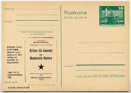 Esperanto Heinrich Heine DDR P79-42-81 C174 Postkarte Zudruck Leipzig 1981 - Esperanto