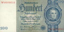 Deutschland, Germany - 100 Reichsmark, Ro. 176 B , ( Serie B/W ) 1936 - 1948 ! - [ 4] 1933-1945: Derde Rijk