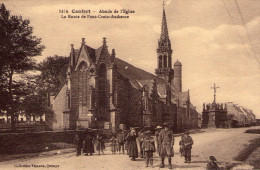 Confort-Meilars..très Animée..belle Vue De L'Eglise..la Route De Pont-Croix Audierne - Confort-Meilars