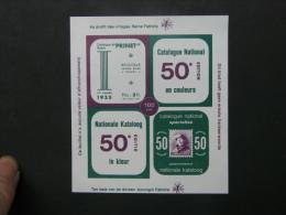 50e Ed. Nationale Kataloog - Catalogue National. ** Niet Getand - Non Dentelé. - Erinnofilia