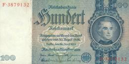 Deutschland, Germany - 100 Reichsmark, Ro. 176 A , ( Serie V/F ) 1936 - 1948 ! - [ 4] 1933-1945: Derde Rijk