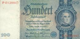 Deutschland, Germany - 100 Reichsmark, Ro. 176 A , ( Serie U/F ) 1936 - 1948 ! - [ 4] 1933-1945: Derde Rijk
