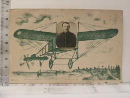 CPA - Carte Surrealiste - Guerre 1914 1918 - Photo D'un Militaire Dans Un Avion - Guerra 1914-18