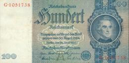 Deutschland, Germany - 100 Reichsmark, Ro. 176 A , ( Serie A/G ) 1936 - 1948 ! - [ 4] 1933-1945: Derde Rijk