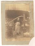 Photo Originale  Carton épais Bouilleur De Cru Distillerie Alambic - Métiers