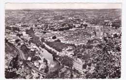 (RECTO / VERSO) VILLEFRANCHE DE ROUERGUE EN 1960 - N° 1 - VUE GENERALE PRISE D ELA CHAPELLE ST JEAN D' AIGREMONT - Villefranche De Rouergue
