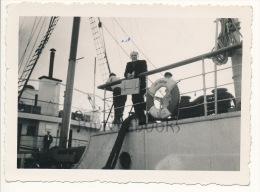 P58 - Paquebot Sidi Brahim SGTM d�tail - Oran, Algerie 1947 - photo ancienne