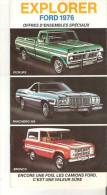 Ford 1976 Explorer Brochure  En Francais - Publicidad