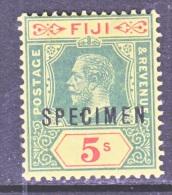FIJI  90  Die I  *  SPECIMEN  Wmk 3  1912-23  Issue - Fiji (...-1970)