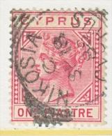 BRITISH  CYPRUS  21 A  Die  A  (o) - Cyprus (...-1960)