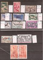 FRANCE POSTE AERIENNE Petit Lot De 12 Timbres OBLITERES + 1 Offert (abimé) Cote 5.00 Euros - Poste Aérienne