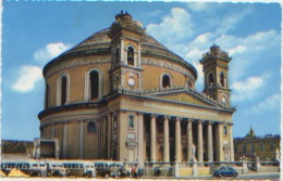 Malte, Malta, Mosta Church, Eglise, Autocars, Coccinelle Volkswagen, A Circulé, Ed. Standard Trading Agency N°45 - Malte