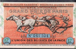 Grand Prix De Paris . - Billets De Loterie