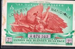L'Union Des Blessés De La Face - Billets De Loterie