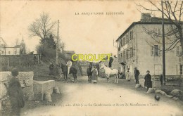 Cpa 43 Tence, Gendarmerie Et Route De Montfaucon, Voir Gendarme Debout Sur Un Cheval, Carte Pas Courante Affranchie 1909 - France