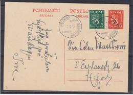 Finlande - Carte Postale De 1943 - Entier Postal - Oblitération 1er Jour 9.02.1943 - Rare - Finlandia