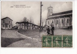Carte 1915 LEON / EGLISE ET HOTEL DU CENTRE - France