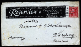 A2571) US Advertising Cover From Chicago 10/11/1913 To Siegburg / Germany - Vereinigte Staaten
