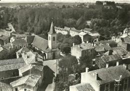 MIGNE-AUXANCES        12  - L'EGLISE      EN AVION AU-DESSUS DE ......... - Autres Communes