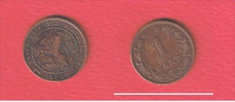 PAYS-BAS  //    1   Cent   1884  //   KM # 107 - [ 3] 1815-… : Kingdom Of The Netherlands