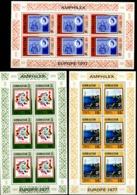 0364- 66  Europa  3 Kleinbogen + 9 Briefmarken - Gibraltar