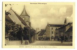 BOURG-LASTIC  Place De L'Eglise Et De La Mairie - Otros Municipios