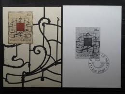 BL74 OBP / COB  2684 Blok/bloc 74 ** + Zwart/wit Blaadje MUSEE HORTA MUSEUM - 1997- Postfris / Neuf - Blocks & Sheetlets 1962-....