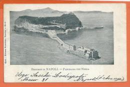 MOL076, Dintorni Di Napoli, Panorama Con Nisida, 44,  Précurseur, Circulée 1904 - Napoli (Naples)