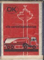 Luciferetiket. OK Alle Aardolieproducten. Tankauto. Etiket. Matchbox-label. - Luciferdozen - Etiketten