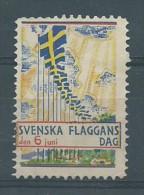SVEZIA SVERIGE    -   Svenska Flaggans Dag 1934 Schweden Schöne AK - Unused Stamps