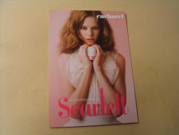 CARTE PUBLICITE CACHAREL....PARFUM SCARLETT... - Advertising
