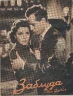 "Film, Movie,  Affiche De Cinema, Program -""DI E GATTIN"",  JENNY JUGO, WILLY FRITSCH, OLD EX YU MOVIE PROGRAM - Programma's"