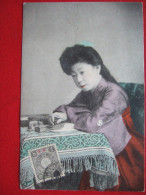 "CHINE - FEMME ECRIVAIN - CACHET DE TIENTSIN...."" RARE "" - China"