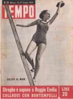 TEMPO Rivista 23 1946 - Reggio Emilia,Processo A Donna Che Saponificava Cadaveri - Fine Savoia - Voor 1900