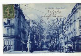 CANNES. - Avenue Carnot . Carte Rare. Au Verso Cachet D'Aug. SIMON 6, Boul.d'Italie - Cannes