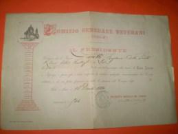 B16 Superga Torino Comizio Generale Veterani 1848-1849 - Documenti Storici