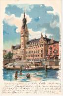 Velten S Künstlerkarte Signiert KLEY Karlsruhe Hamburg Rathaus Color 12.9.1899 Gelaufen - Kley